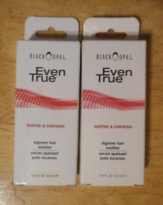 2 tube lot BLACK OPAL EVEN TRUE SOOTHE & DIMINISH INGROWN HAIR SOOTHER uns nib