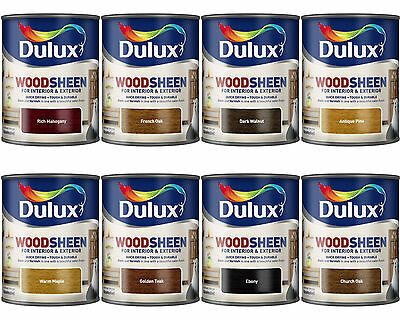 Dulux Woodsheen Woodstain for Interior & Exterior All Colours 750ml
