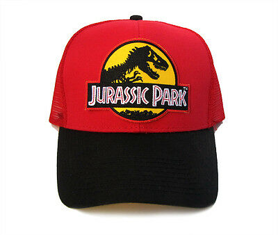 Jurassic Park Movie Logo Yellow Sci-Fi Patched Snapback Mesh Back 2tone Cap  Hat 81b4753f80f9