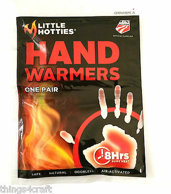 Hand Warmers - Little Hotties Keep Hands Warm for up to 8Hrs Insert in Ski glove