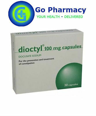 Dioctyl 100mg Capsules - Treatment & Prevention of Constipation pack of 30