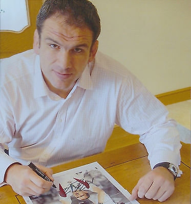 Signed England Rugby legend Martin Johnson print - World Cup 2003