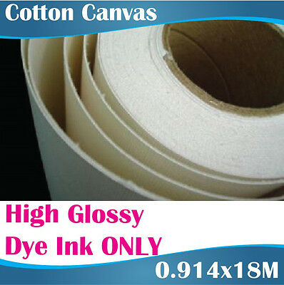 Printable Canvas Rolls Dye Ink ONLY/Artists Canvas/Cotton Canvas/ 0.914x18M