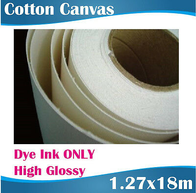 Printable Canvas Rolls Dye Ink ONLY/Artists Canvas/Cotton Canvas/ 1.27x18M
