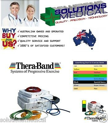 Theraband Exercise Stretch Resistance Tubing 7.6M Thera-Band 6 Colours Available