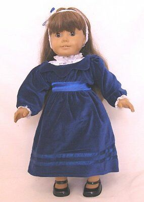 "Doll Clothes 18"" Doll Victorian Dress Blue Fit American Girl Doll Samantha"