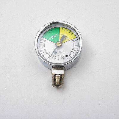 """PRESSURE GAUGE - 2"""" DIAL,0-30 PSI,  1/4"""" MPT for Henny Penny - Part# 16910"""
