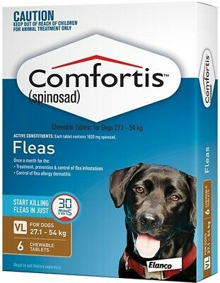 Comfortis Brown 6 pack for Extra Large Dogs 27.1- 54kg