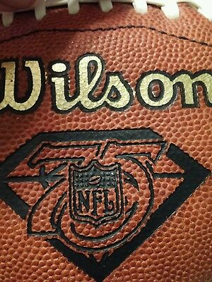 Official nfl football 75 anniversary season leather game football. Full size.
