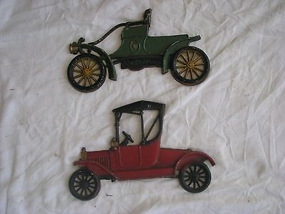 Vintage Cast Iron Sexton Cars for Wall Art YOU GET BOTH