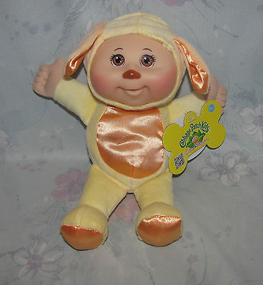 """Cabbage Patch Cuties - 2012 Jakks Pacific - Yellow Dog/Puppy - With Tags 9"""""""