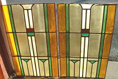 Leaded Glass Windows - Prairie Style, Stained Glass Window, Some Tlc Needed
