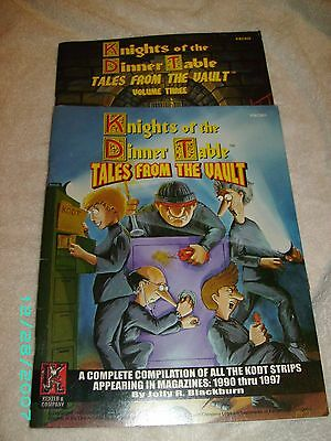 Lot of 2 Knights of the Dinner Table Tales from the Vault vol. 1 & 3 RPG comics