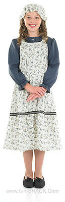 Girls Victorian Edwardian School Girl Fancy Dress Costume Outfit New 3PC 6-8-12