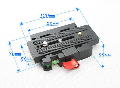 P200 Quick Release Clamp Plate Tripod for Manfrotto 500AH 701HDV 503HDV 76AA