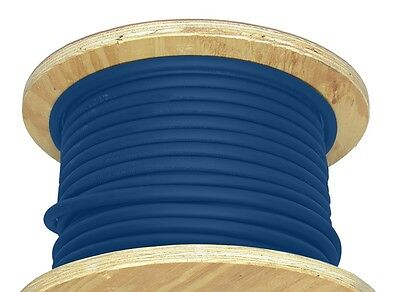 50' 2/0 AWG Welding Cable Blue Flexible Outdoor Wire