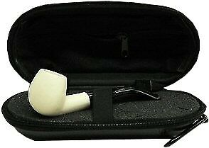 Miniature Meerschaum Pipe - SMOOTH BOWL with Zippered Case