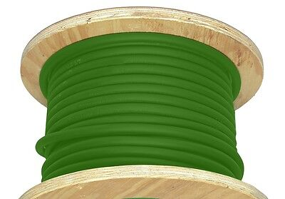 100' 2/0 AWG Welding Cable Green Flexible Outdoor Wire Durable New