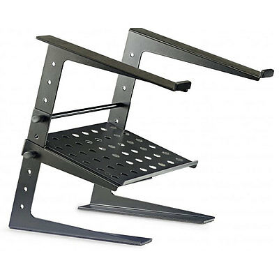 Stagg DJS-LT20 Professional Laptop Stand Black DJ Disco inc Lower Shelf