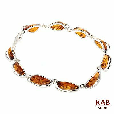 Cogna Baltic Amber Sterling Silver 925 Jewellery Bracelets Beauty Stone, Kab-101