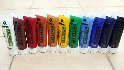 15tubes Quality Acrylic Paints for professional