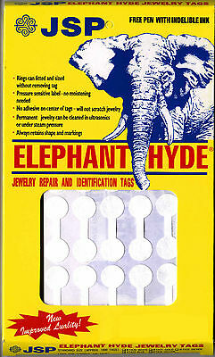 ELEPHANT HYDE JEWELRY PRICE TAGS, WHITE  1000, Dumbell shape (ta70)