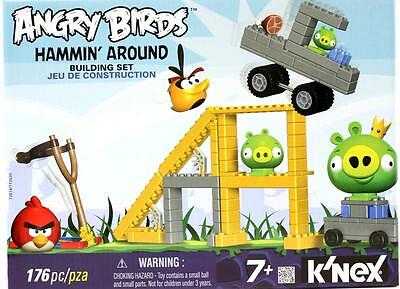K'NEX Angry Birds Hammin Around 176pc Building Set - With Working Launcher NEW