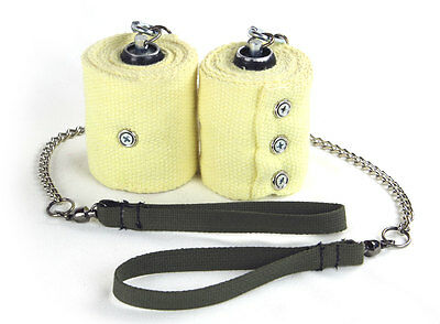 """Fire Poi, 3"""" XL Kevlar Wick, Twisted Link Chain Trick Concepts - Ball Bearing"""