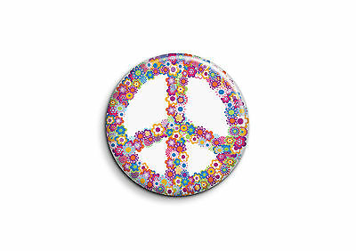 Peace and Love - Fleurs 2 - Badge 25mm Button Pin