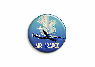 Vintage - Air France 1 - Badge 25mm Button Pin