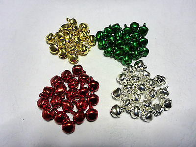 20,50,100 Count Jingle Bells Traditional Christmas Colours 6 x 8 mm Decorations