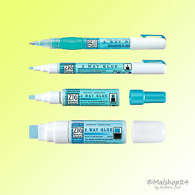 2 Way Glue Pen Klebestift Kleber Bastelkleber permanent oder ablösbar Kuretake