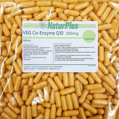 Vegetarian Co Enzyme Q10 300mg High Strength CoQ10 Capsules UK Made by NaturPlus
