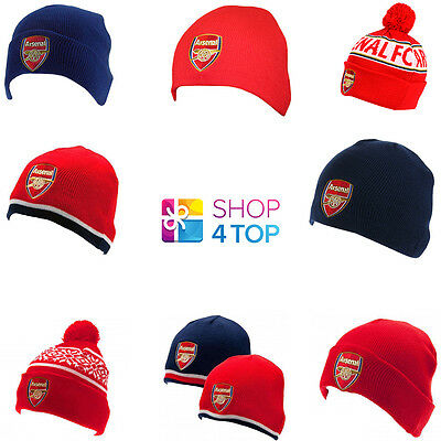 Arsenal Fc Football Soccer Club Team Fans Knitted Hat Winter Official Warm New