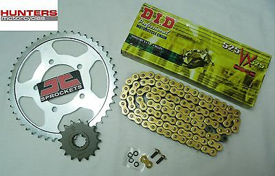 Suzuki GSXR750 K4 & K5 2004 & 2005 DID Gold X-Ring Chain & JT Sprockets Kit Set