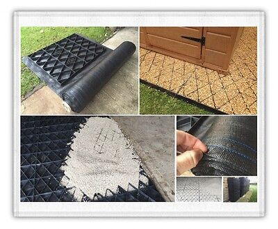 Path Paving Driveway Grid + Membrane Ground Protection Lawn Grass Grid Shed Base