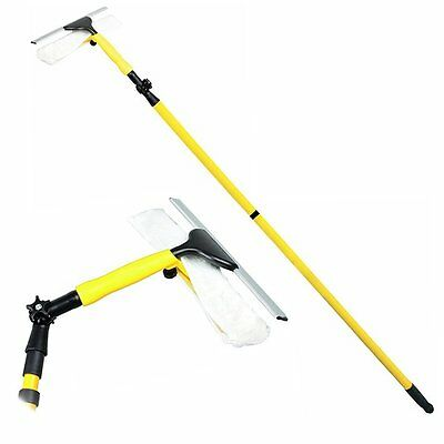 NEW! Extendable 3.5m Heavy Duty Window Cleaning Squeegee Mop Wash Wipe Cleaner