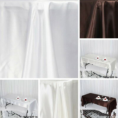 "36 pcs Wholesale Lot 50x120"" RECTANGLE Satin TABLECLOTHS Wedding Party Linens"