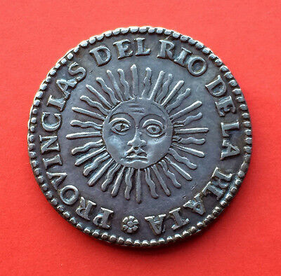 SCARCE!! Silver coin 2 Soles of ARGENTINA. Year 1826. RA. Excellent conditions!!