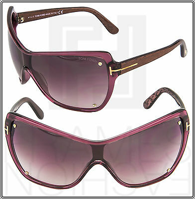 a1b6b8b6775 TOM FORD EKATERINA TF363 71Z Transparent Wine Mask Sunglasses Gradient Women