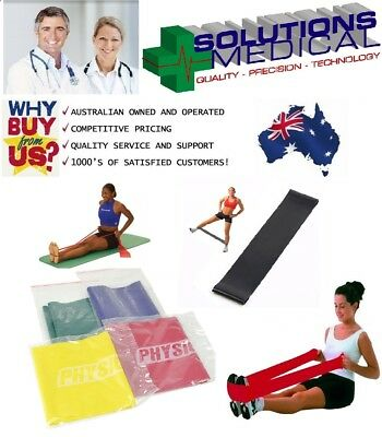 Practitioner Resistive Exercise Band 1.5M Resistance Training  4 Colour Levels
