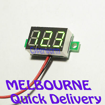 Digital Voltmeter DC4.5V-30V Bright Green LED Car Boat Electronic Projects