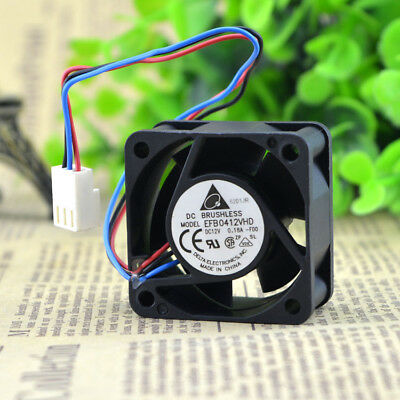1X Delta EFB0412VHD 40x40x20mm 4020 12V 0.18A DC BRUSHLESS Fan 3pin wire M416 QL
