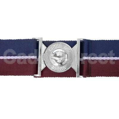 Genuine Issue New Pattern RAF Stable Belt with Chrome Locket Air Cadets ATC