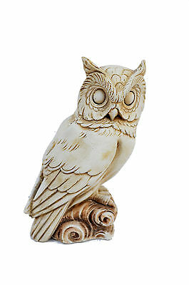 Owl Ancient Greek sculpture statue handmade artifact