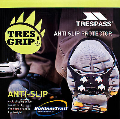 Trespass Anti Slip Snow Shoe Winter Boot Ice Spikes Grippers Traction Pads Grips