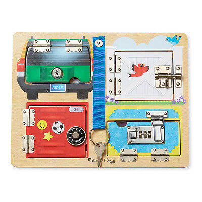 Melissa And Doug Lock & Latch Board Educational Fun Play Toy Brand New & Sealed