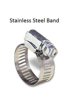 """(10 pc) 1/2 TO 3/4 HOSE CLAMP Stainless Steel Band With Zinc Screw 1/2"""" Band #6"""
