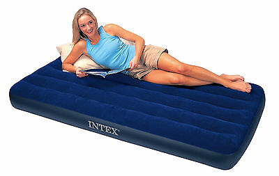 INTEX #68757 Twin Size Classic Downy Air Bed Inflatable Mattress Waterproof