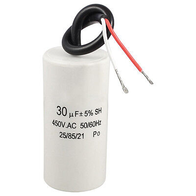 2-Wired 30uF 450VAC 50/60Hz CBB60 Motor Start Run Capacitor LW SZUS